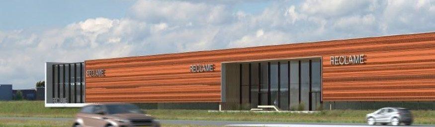 Nieuwbouw bedrijfsunits Enschede, Josink Esweg. Image