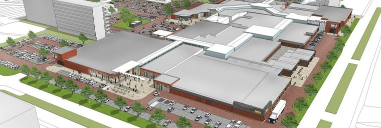 Nieuwbouw Winkelcentrum Wesselerbrink fase 2, deel A + B Enschede Image